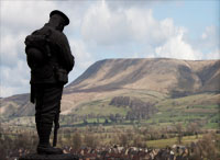War Memorial and Pendle