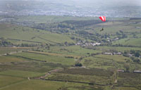 Pargliding from Pendle